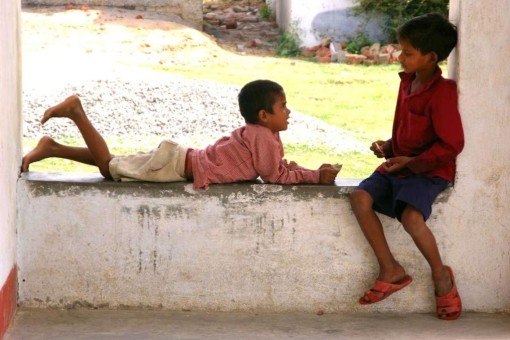インド・ブッダガヤにて 小学校の子供達