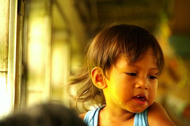 【マレーシア】 ジャングル・トレインの中の子供