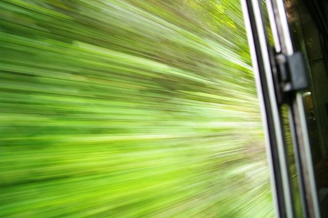マレーシア ジャングル・トレイン 車内から