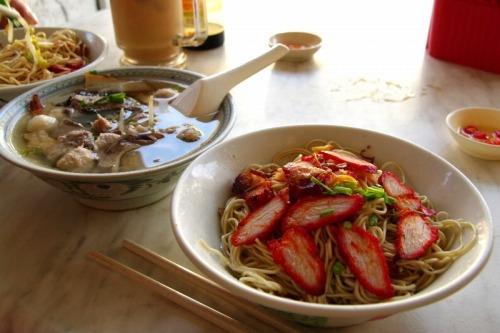 【マレーシア・クチン】 叉焼麺ドライ(KOLO MEE) 【写真追加】