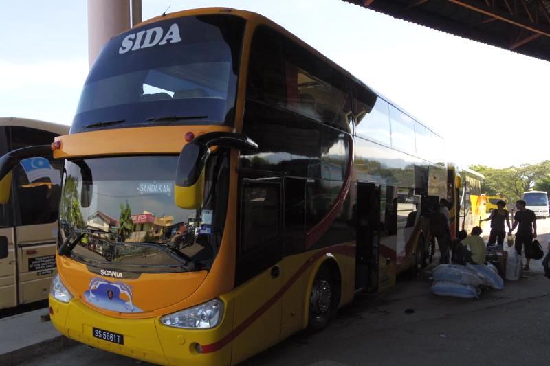 【移動】コタキナバル→サンダカン バスの行き方