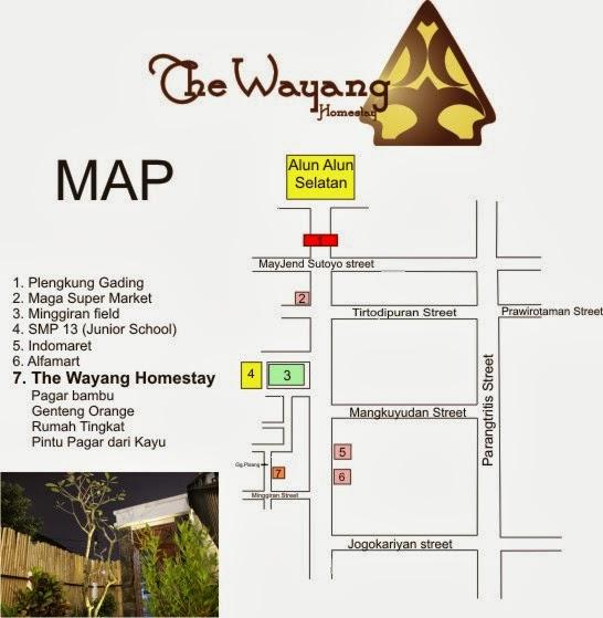 ジョクジャカルタ 安宿 ゲストハウス Yokjakarta The Wayang Homestay