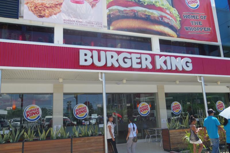 【東ティモール】無料でWiFIも出来るBURGER KING!