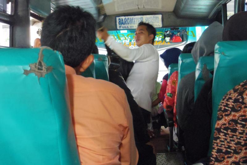 ジョクジャカルタからパンガンダランへ