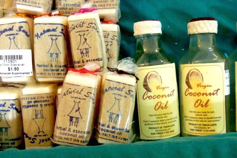 東ティモール お土産 オーガニックココナッツオイル ココナッツソープ