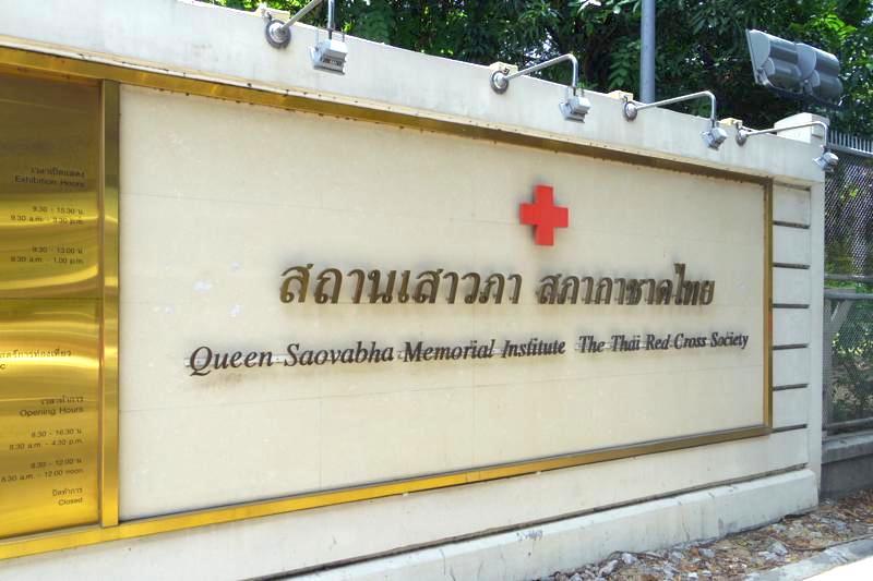 バンコク スネークファーム 予防接種 ワクチン サオヴァバ女王記念研究所