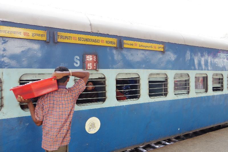【インド移動】列車でハイデラバードからプリー(ブバネシュワール)までの行き方