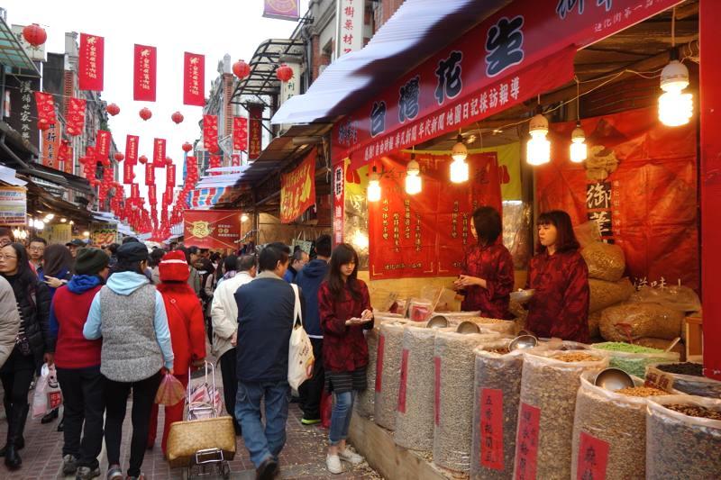 台北 年貨大街 迪化街 2016