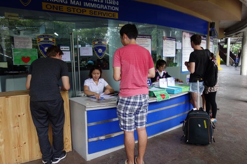 タイ チェンマイ ビザ 滞在延長 必要書類料金 行き方 申請方法