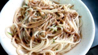 【台南】安平で美味しい麻醤麺を食べるならココ!麺が少し太めの麺食堂『唖巴麺店』
