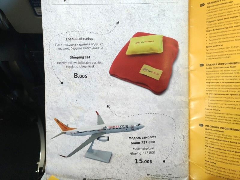 デリーからキルギス首都ビシュケクへ!ペガサス航空(マナス航空)搭乗レポート!
